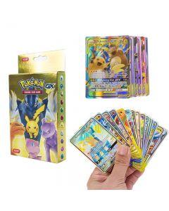 100 olika Pokémon-kort 37 GX 63 TAG TEAM-förseglade handelskort