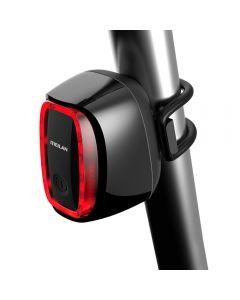 MEILAN X6 Smart Cykel Bakljus Bakre cykellampa USB Uppladdningsbar Vattentät Cykelbroms Säkerhet Warnin LED Bakljus