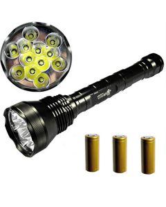 ETERNALFIRE 12T6 HIGH POWER 12 * CREE XM-L T6 LED TORCH 13800 LUMENS 5 MODES LED ficklampa Set-Complete Set