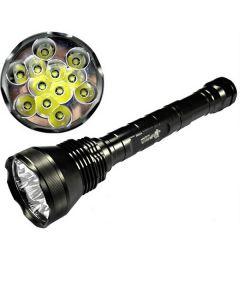 ETERNALFIRE 12T6 HIGH POWER 12 * CREE XM-L T6 LED Torch 13800 Lumens 5 Modes LED-ficklampa Endast set-Light Unit