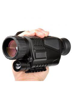 5 x 40 Infraröd Night Vision Monocular Night Vision Infraröd digital Omfattning för jaktteleskop Långt sortiment med inbyggd kamera