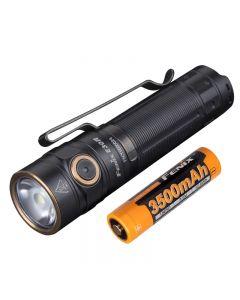 Fenix E30R 1600 lumen och 203 meter LED EDC Uppladdningsbar ficklampa
