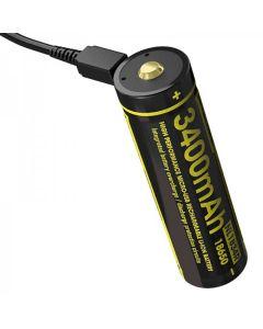 Nitecore NL1834R 3.6V High Performance Micro-USB 18650 Uppladdningsbart batteri
