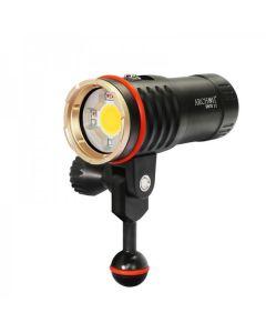 Archon DM10 II / WM16-II Dykning Video Ficklampa COB LED 3500LM Neutral Vit Ljus / Röd Ljus / UV-ljusdykning