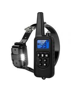 2020 Ny 800m Electric Dog Training Collar PET Fjärrkontroll Vattentät uppladdningsbar med LCD-skärm för all storlek Shock Vibration Sound