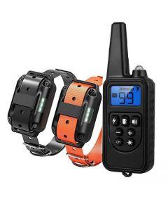 800m Electric Dog Training Collar PET Fjärrkontroll Vattentät uppladdningsbar med LCD-skärm för all storlek Shock Vibration Sound
