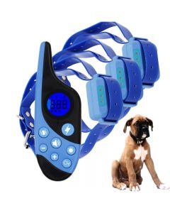 2021 Ny 500m Electric Dog Training Collar PET Fjärrkontroll Vattentät uppladdningsbar med LCD-skärm för all storlek Shock Vibration Sound