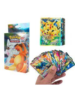 100 olika Pokemon -kort 20MEGA 58BASIC 20GX 1TAG TEAM 1ENERGY Booster Box Trading Cards