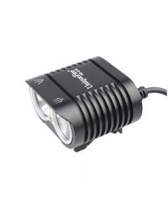 Uniquefire HD-016 2 * CREE XM-L2 4 MODER 1800 LUMENS LED Bike Light Cykel Framljus-Svart