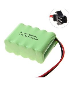 Ni-MH AA Battey 12V 1800MAH SM-kontaktbatteri