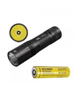 Nitecore R40 V2 CREE XP-L2 V6 LED 1200 LUMENS USB Uppladdningsbar 21700 Batterilampa