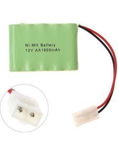 Ni-MH AA 12V 1800mAh Big White Plug Batteri Pack