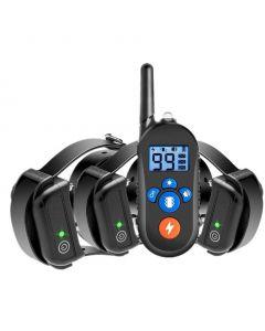 800m elektrisk hund träningskrage, hundskock krage w / 3 träningsläge, elektronisk hund chock träningskrage med fjärrkontroll för små medelstora stora hundar, 100% vattentät