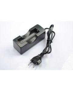Singel 18650 Uppladdningsbar batteriladdare