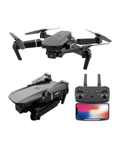 E88 Professionell Mini WIFI HD 4k Drone Med Kamera Hight Hold Mode Vikbar RC -plan Helikopter Pro Dronleksaker Quadcopter Drones