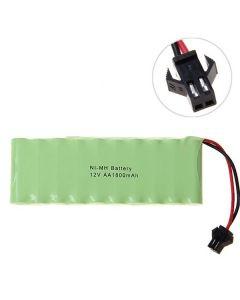 Ni-MH AA Big SM-kontakt 12V 1800mAh batteripaket