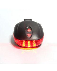 5LED + 2LASER 7 Flash Mode Cykel Säkerhet Cykel Baklykta, Vattentät Cykla Laser Tail Light Warning Lampa blinkar