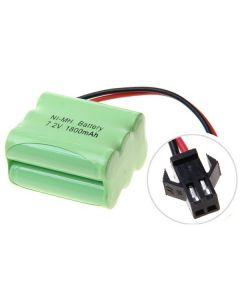 Ni-MH AA 7.2V 1800mAh SM-kontakt 6 * AA-batteri