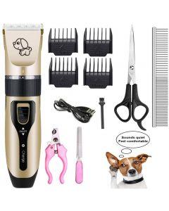 Husdjur laddning elektriska clippers, husdjur elektrisk rakapparat katt och hund elektrisk hårklippare, hund professionell skönhet trim uppsättning kan laddas