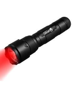 Ultrafire WF-502B.2 XP-E2 LED Zoombar röd ljus ficklampa
