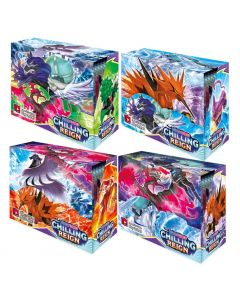 4X360st Pokémon TCG: Sword & Shield Chilling Reign Booster Display Box Collection Card Game Toy Kids Gift