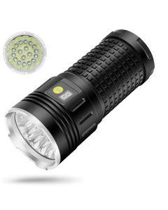 Sky Ray 18Xcree XML T6 4 Modes 15000 Lumen Uppladdningsbar USB-typ-C LED-ficklampa