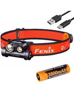 Fenix HM65R-T 1500 Lumen Dual Beam USB-C Uppladdningsbar strålkastare, lätt för spår som körs med Lumentac Batteri Organizer