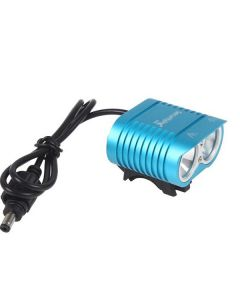 Uniquefire HD-016 2 * CREE XM-L2 4 MODER 1800 LUMENS LED Bike Light Cykel Framljus-Blå