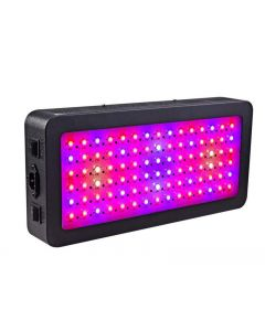 LED växer ljus, 600 watt full spektrum växt ljus med switch, IR & UV växande lampa kit för växthus hydroponic seedling veg och blomma