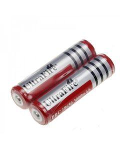 Ultrafire BRC 3000MAH 3.7V 18650 Batteri med PCB (1 par)