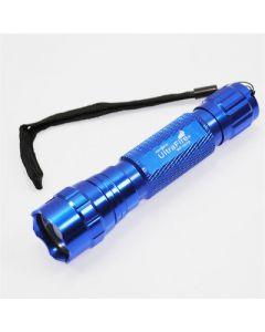 Blå ultrafire wf-501b cree xm-l u2 1300 lumen 5 lägen kall vit LED ficklampa