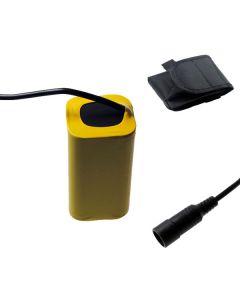 5521 DC-gränssnitt 8.4v 4x18650 8800mAh Bike Light Batteri för LED cykel framljus