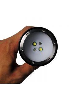Dykning ficklampa Eternalfire D32VR LED Dykning Ljus 100 meter Röd och vitt Ljus Undervattens Fotografering Dykfackla