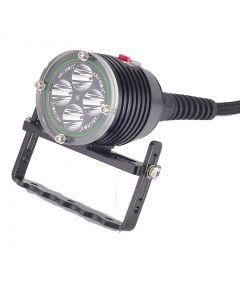 Archon DH40 WH46 4 * CREE XM-L U2 LED MAX 4000 LUMENS 3 MODER Dykljus med 8 * 26650 + Laddare