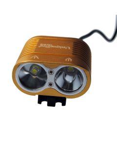 Uniquefire HD-016 2 * CREE XM-L2 4 MODER 1800 LUMENS LED Bike Light Cykel Framljus-Glod