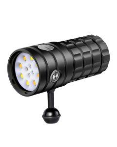 Nitebeam UV 395-400nm Dykning ficklampa 8 XHP50 Vit Ljus / 4x Rött ljus / 4x UV Light LED Dyktacklampa