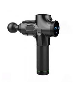 Elektrisk muskelmassagerterapi fascia massage pistol djup vibration muskel avkoppling fitness utrustning 1200-3300r / min dropship