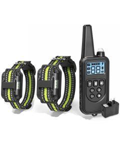 Elektrisk hundträning med LCD-skärm Krage Vattentät uppladdningsbart Bark-Stop Remote Control Collars för Shock Vibration Sound
