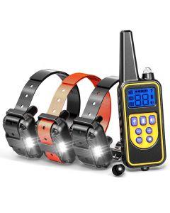 800YD Electric Remote Dog Training Collar Vattentät uppladdningsbar LCD-skärm för all storlek pipstockning av vibrationsläge