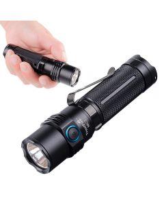 Trustfire MC3 CREE XHP50 2500 Lumens LED ficklampa USB Magnetisk laddningsbrännare 21700 Uppladdningsbart ljus IP68 Vattentät EDC-handhållen lampa