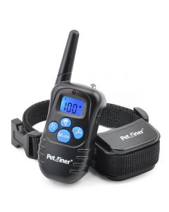 Petrainer 998d 300m Remote Electric Dog Collar Shock Vibration Rechargeble Rainproof Dog Training Collar med LCD-skärm