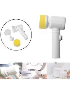 Handhållen elektrisk rengöringsborste Power Scrubber Borst Trådlös Rengöringsborste för badrums badkar Kök Hushållsredskap