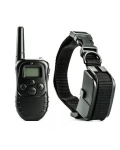 300m Electric Dog Training Collar Vattentät PET Fjärrkontroll med LCD-fjärrkontroll för all storlek Shock Vibration Sound Pet Collar
