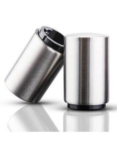 Kök Rostfritt stålflaskaöppnare ölöppnare automatiska magnetiska ölöppnare bar vinöppnare verktyg