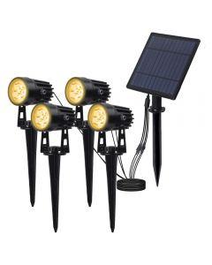 Solen Powered Spotlight Solar Panel Utomhusbelysning Landskap Yard Garden Tree Separat Lamp