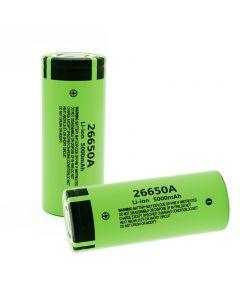 100% Original Nytt 26650A Li-ion Batteri 3.7V 5000mA Uppladdningsbara batterier