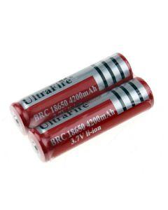 Ultrafire BRC 4200MAH 3.7V Li-ion uppladdningsbart 18650 batteri (1 par)