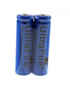 Ultrafire TR 5000MAH 3.7V 18650 Li-ion uppladdningsbart batteri (1 par)