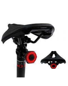 Smart cykel svans bakljus Automatisk start Stopp Broms IPX6 Vattentät USB-laddning Cyklingsvans Blaillight Bike LED-lampor