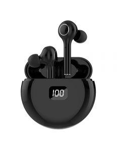 TWS Bluetooth 5.0 Hörlurar 400mAh Laddningsbox Trådlös hörlurar 9D Stereo Sport Vattentät Earbuds Headset med mikrofon